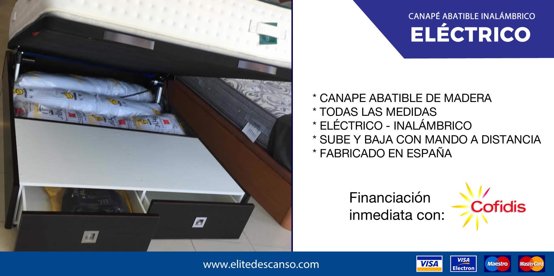 Oferta Canape Abatible Eléctrico Élite Descanso Santiago