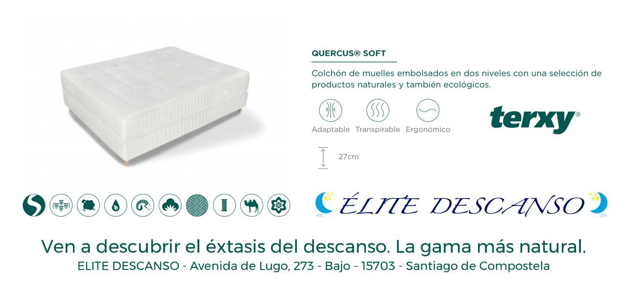 Oferta colchón Quercus Soft Terxy Elite Descanso Santiago de Compostela
